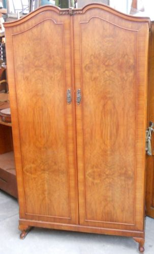 Walnut Two Door Wardrobe by Wrighton